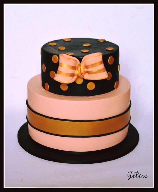 Retro anniversary cake