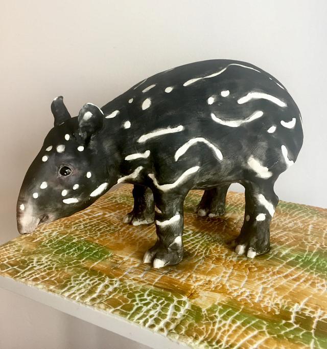 Offspring of Malayan tapír-World Animal Day Collaboration