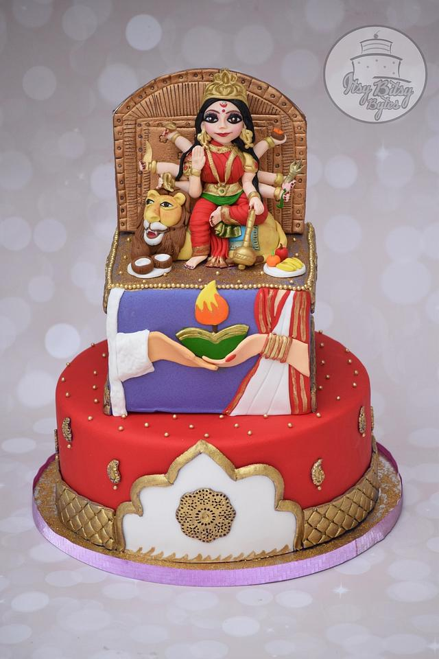 Incredible India Collaboration - Goddess Durga cake