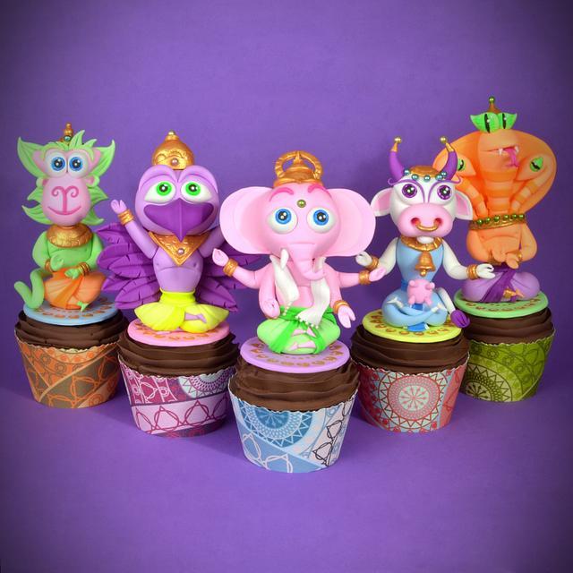 Cupcakes Hindu Animal Gods