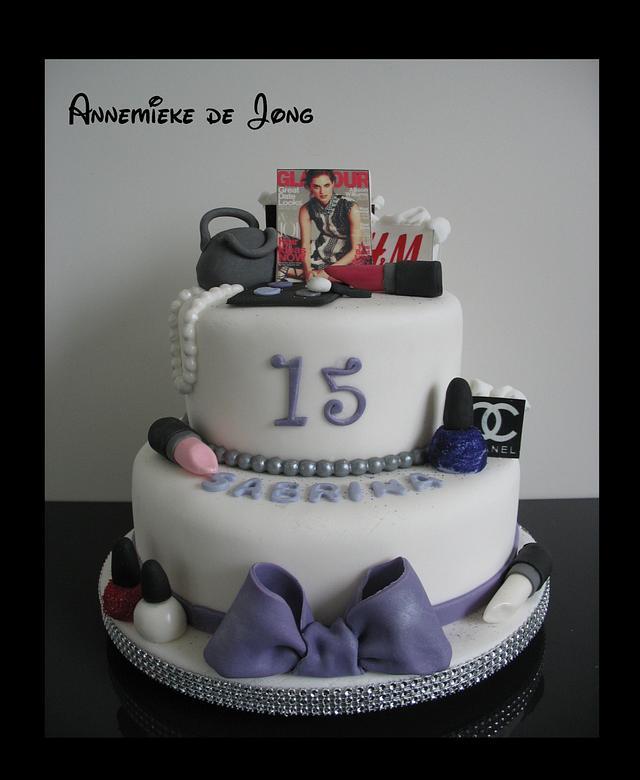 Fine Fashion Birthday Cake Cake By Miky1983 Cakesdecor Funny Birthday Cards Online Overcheapnameinfo
