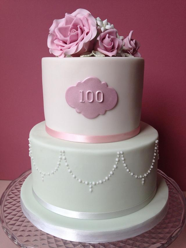 Prime 100Th Birthday Cake Cake By Sally Jane Cake Design Cakesdecor Funny Birthday Cards Online Aboleapandamsfinfo