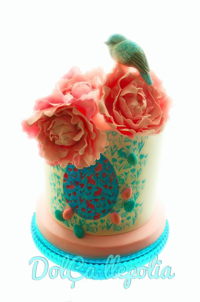 Easter bird cake