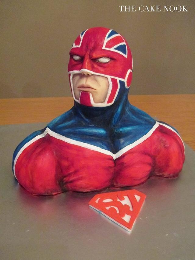 Captain Britain - Bake for Superjosh, Cake Collaboration.