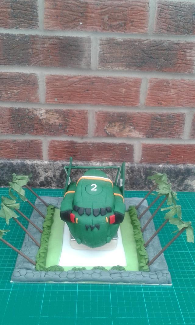 Thunderbirds are  GO!..............Thunderbird 2 cake