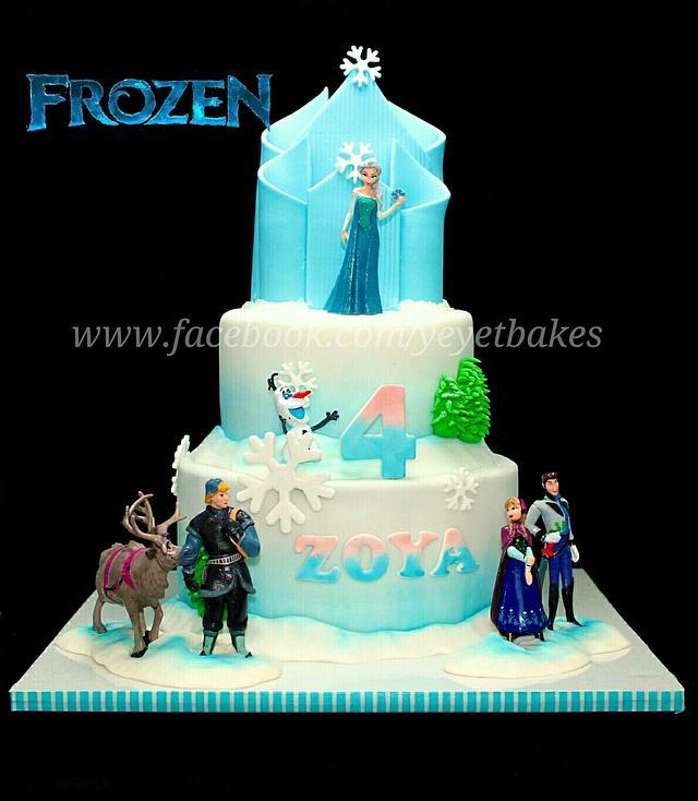 Frozen Theme Cake #2