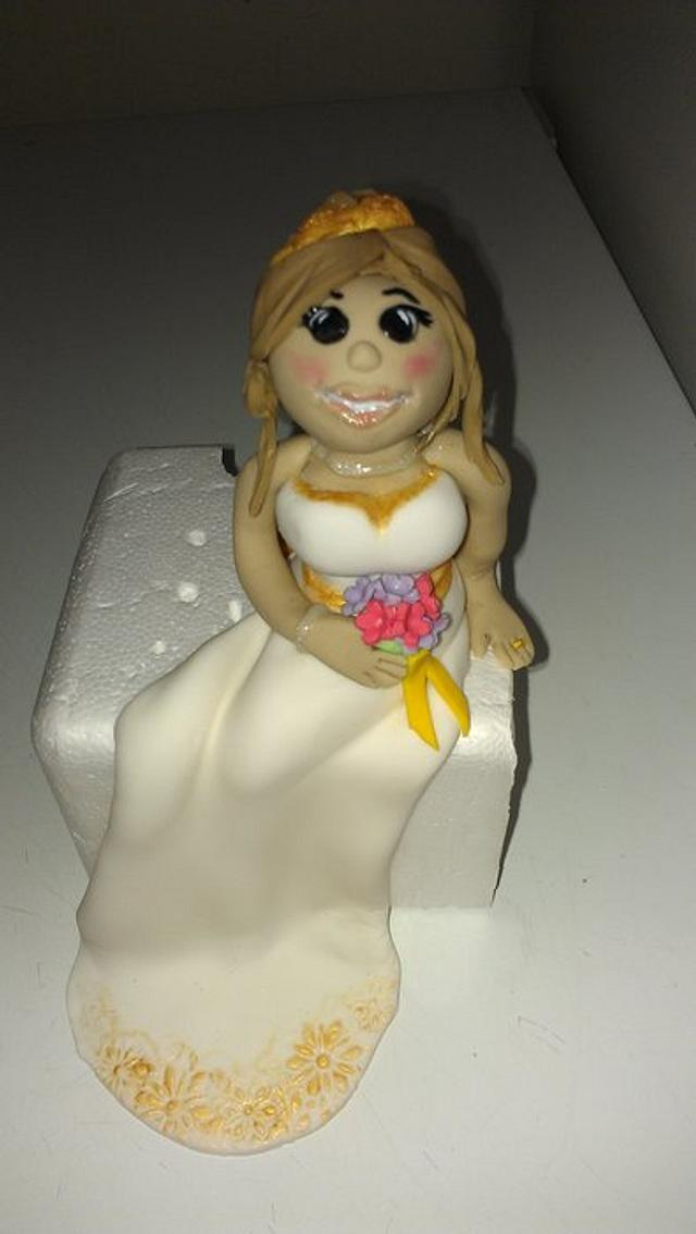 my first attempt at a fondant bride