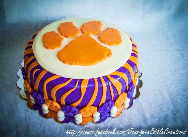 Clemson Tiger Cake