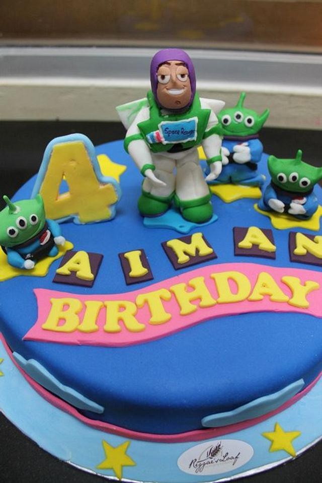 Super Buzz Lightyear Birthday Cake Cake By Reggaes Loaf Cakesdecor Funny Birthday Cards Online Inifodamsfinfo