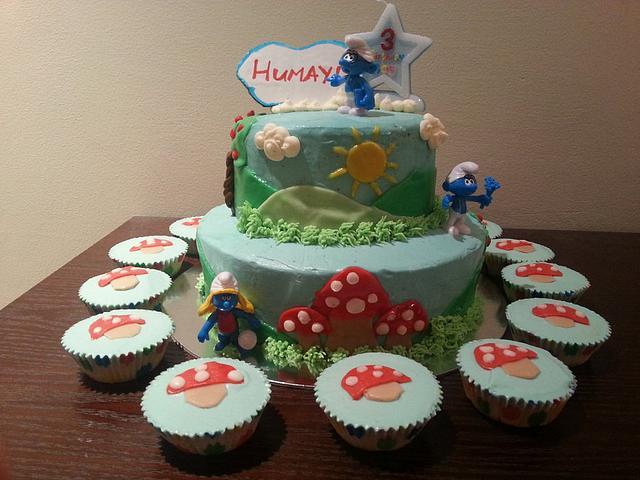Smurfs' Cake