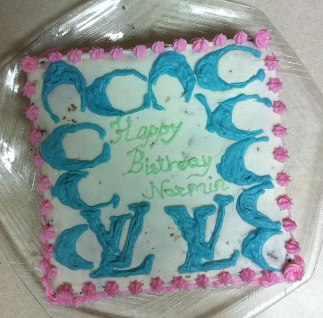 Coach & Louis Vuitton Brownie Cake.