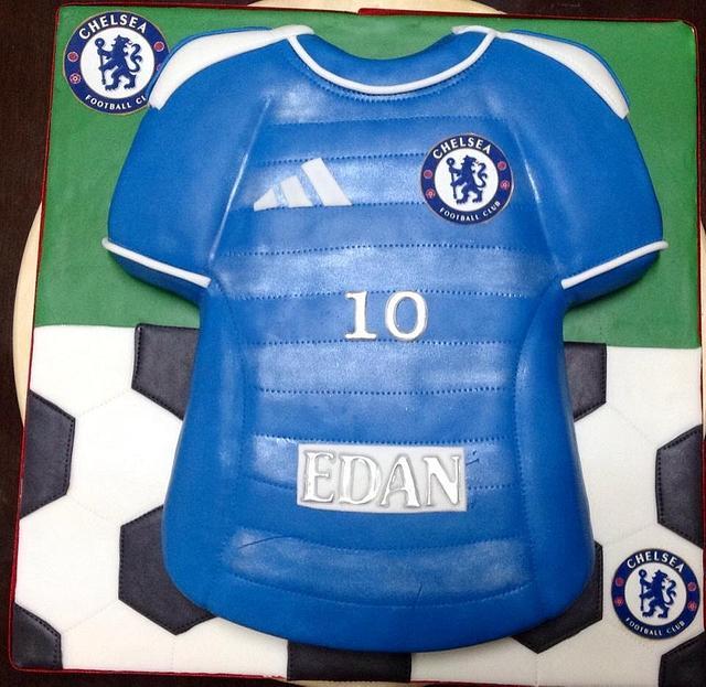 10th Birthday Football Shirt Cake