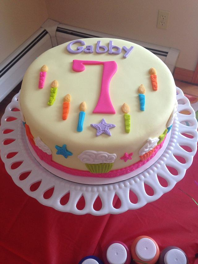 Excellent 7Th Birthday Cake Cake By Familycakesbyjackie Cakesdecor Personalised Birthday Cards Epsylily Jamesorg