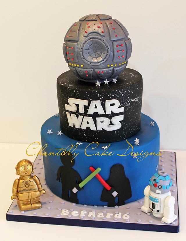 Awe Inspiring Lego Star Wars Cake Cake By Chantilly Cake Designs Cakesdecor Funny Birthday Cards Online Overcheapnameinfo