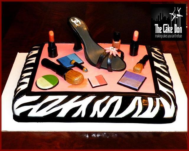 THE CHANEL SHOE & MAC MAKE-UP CAKE