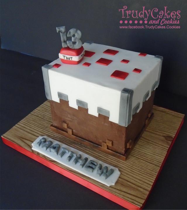 Minecraft cake..cake