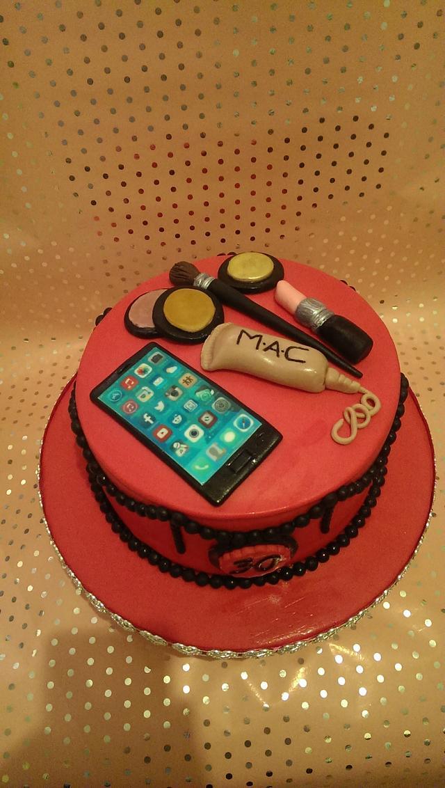 30th make up cake