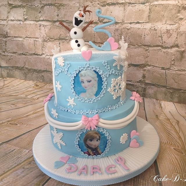 Super Frozen 3Rd Birthday Cake Cake By Sweet Lakes Cakes Cakesdecor Funny Birthday Cards Online Overcheapnameinfo