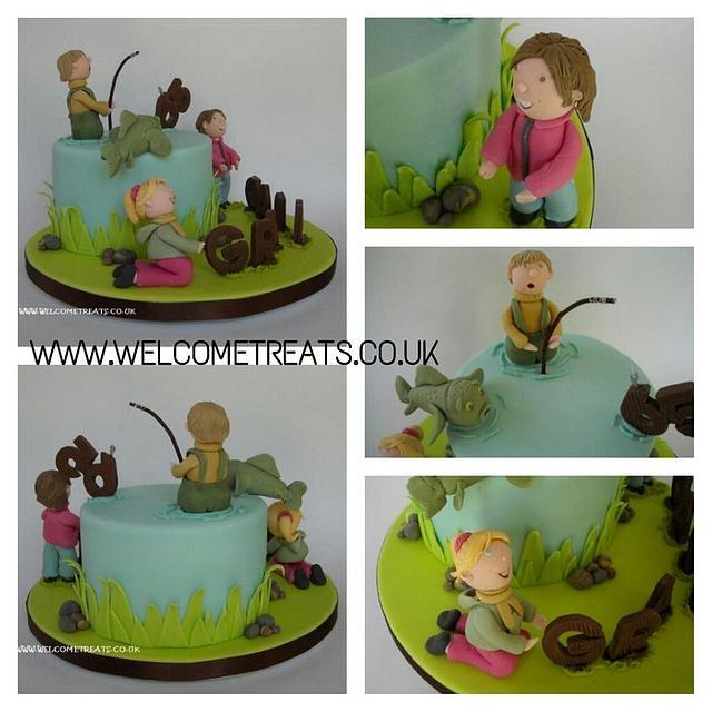 65th Birthday Fishing Cake