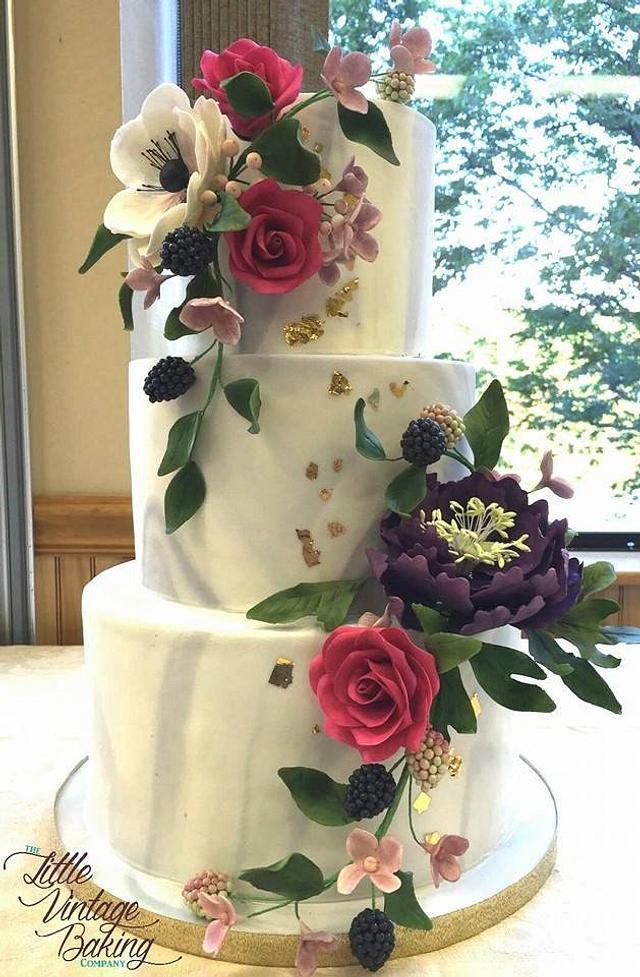 Marble Sugar Flower Cake