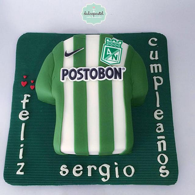 Torta Camisa Atlético Nacional Medellín