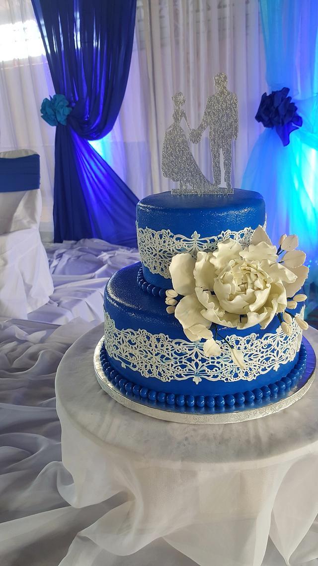 Something lace  & blue