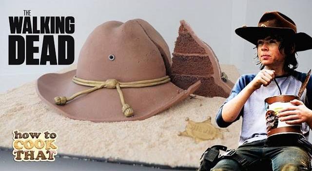 Walking Dead Carl's Hat Cake