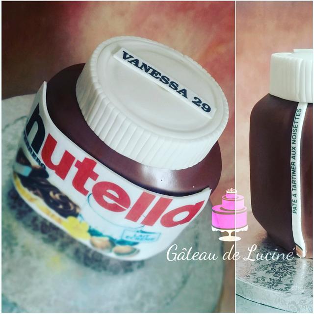 Nutella bottle (3D cake)