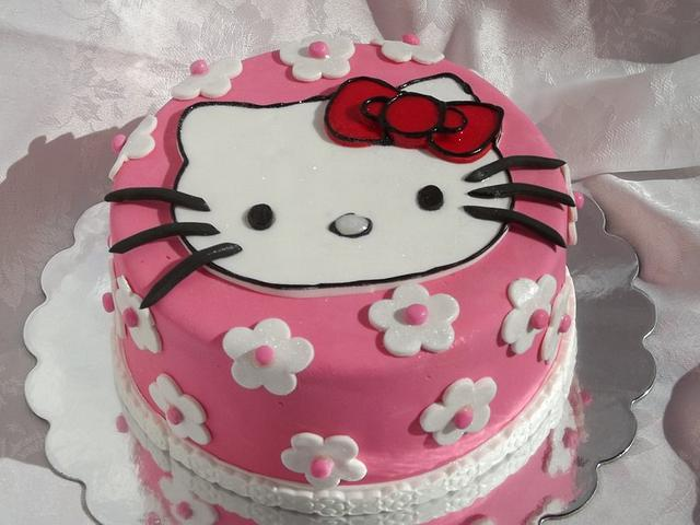 Superb Hello Kitty Birthday Cake With Mini Cupcakes Cake By Cakesdecor Personalised Birthday Cards Cominlily Jamesorg