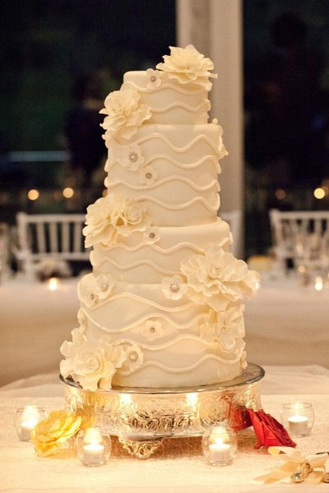 My first ever wedding cake yahoooooo