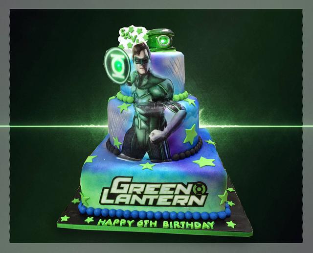 Wondrous The Green Lantern Cake By Mstreatz Cakesdecor Funny Birthday Cards Online Amentibdeldamsfinfo