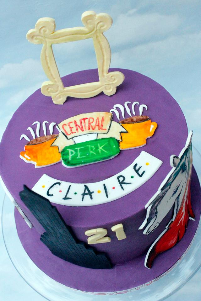 Friends themed cake for Claire