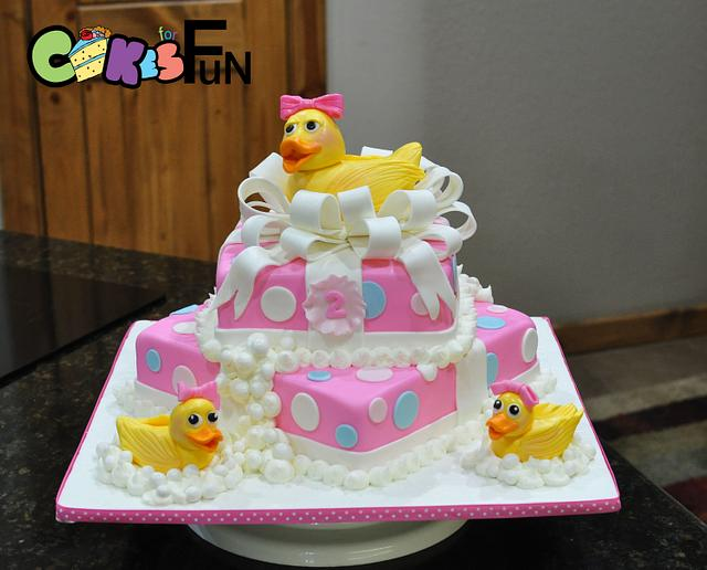 Amazing Duck Birthday Cake Cake By Cakes For Fun Cakesdecor Funny Birthday Cards Online Alyptdamsfinfo