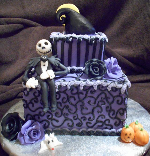 Enjoyable Nightmare Before Christmas Birthday Cake Cake By Angie Cakesdecor Funny Birthday Cards Online Elaedamsfinfo