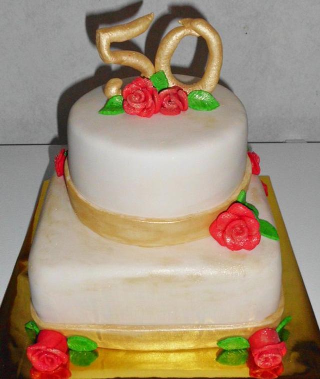 My First 50th Wedding Anniversary Cake