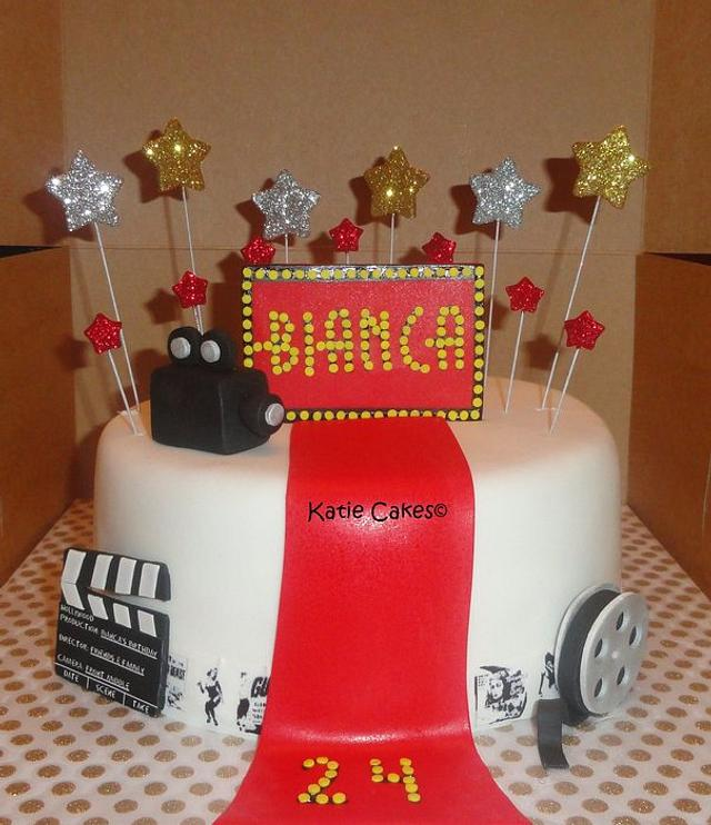 Marvelous Hollywood Birthday Cake By Katie Cortes Cakesdecor Funny Birthday Cards Online Overcheapnameinfo