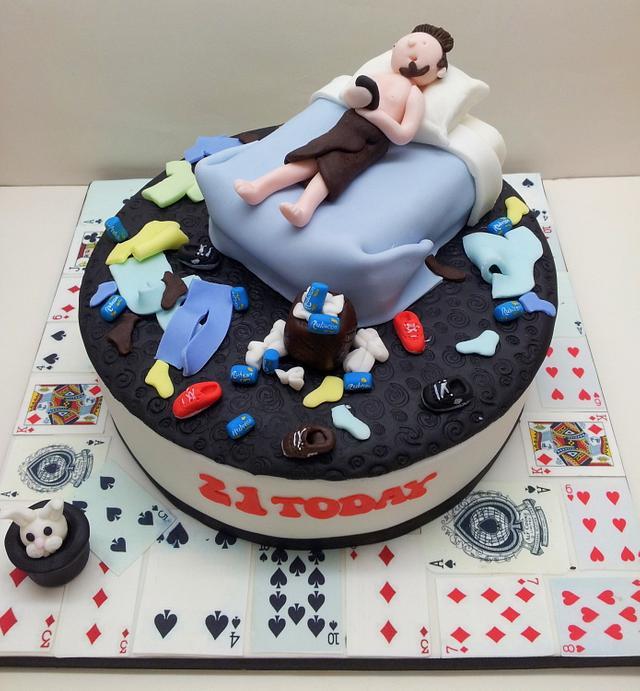 Swell Messy Bedroom 21St Birthday Cake Cake By Sarah Poole Cakesdecor Funny Birthday Cards Online Aboleapandamsfinfo