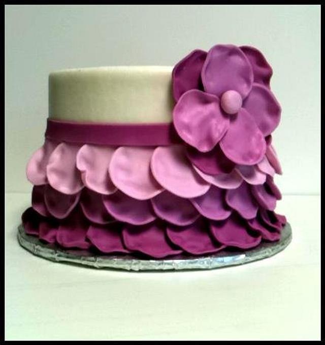 Purple petal cake