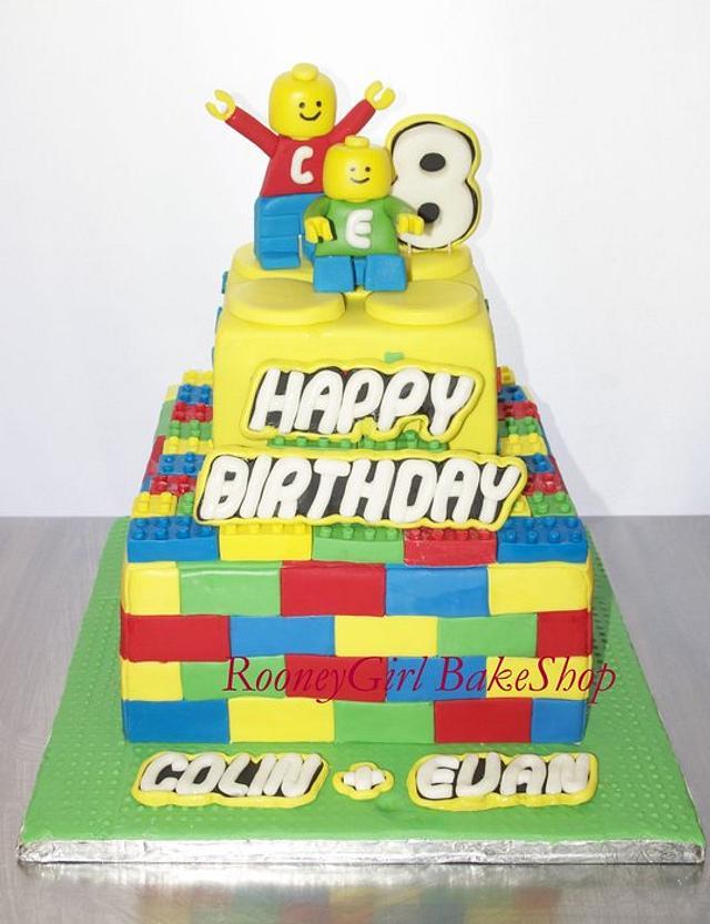 Lego Birthday Cake for Twin Boys