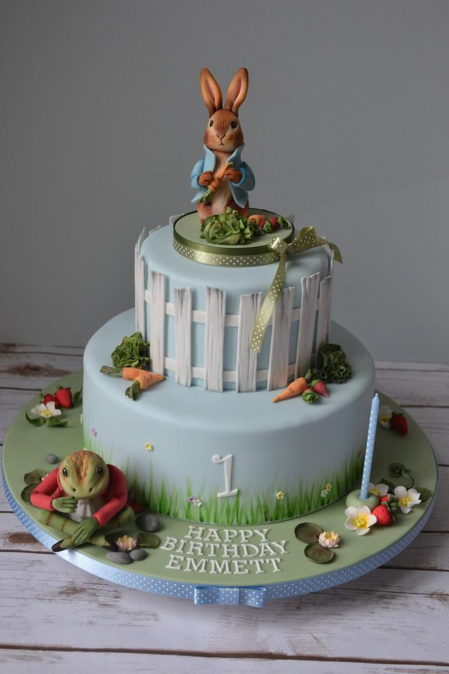 Superb Peter Rabbit And Friends 1St Birthday Cake Cake By Amae Cakesdecor Personalised Birthday Cards Epsylily Jamesorg