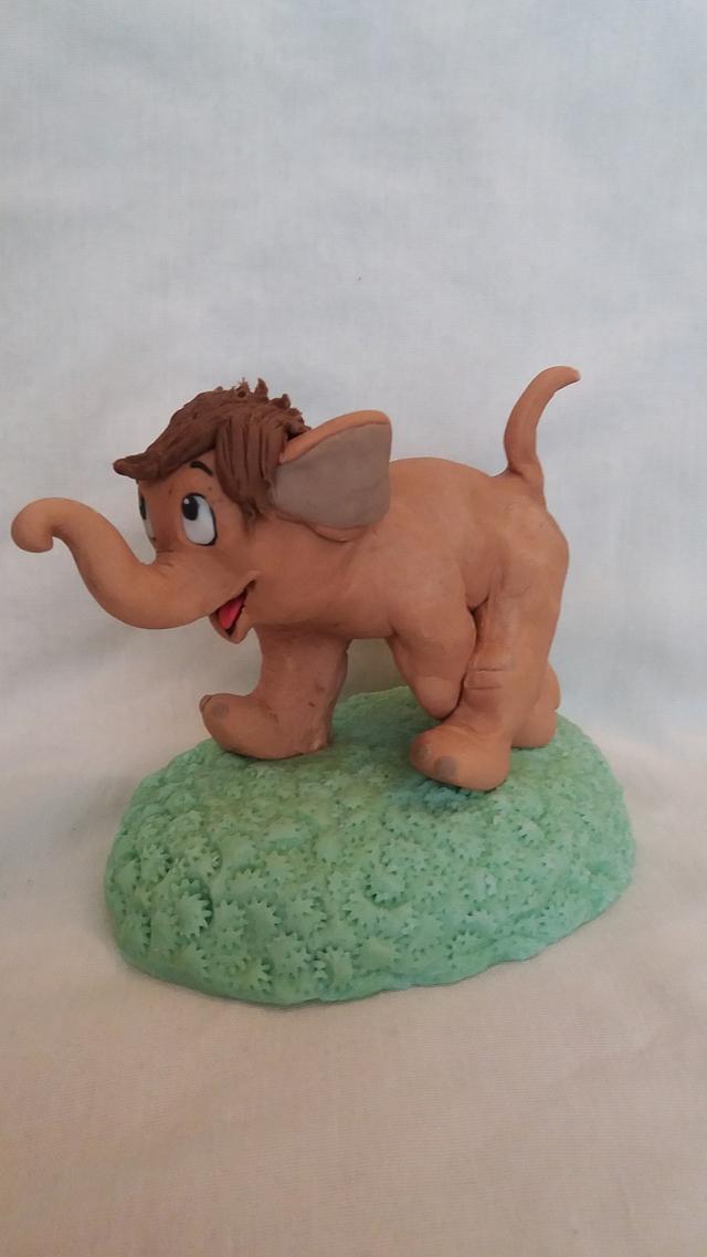Cute elephant topper
