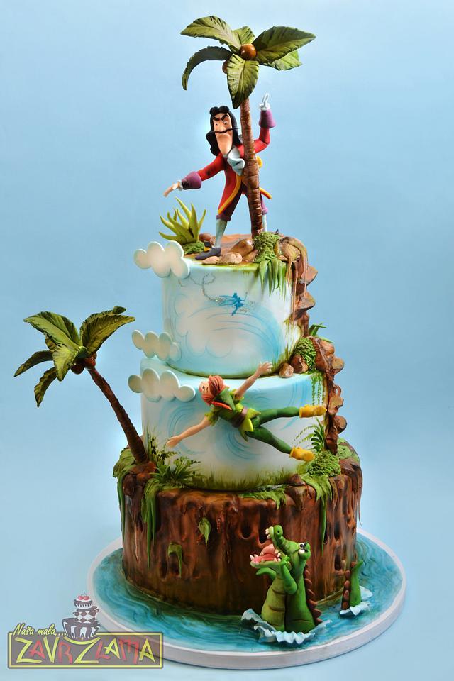 Peter Pan and Captain Hook Cake