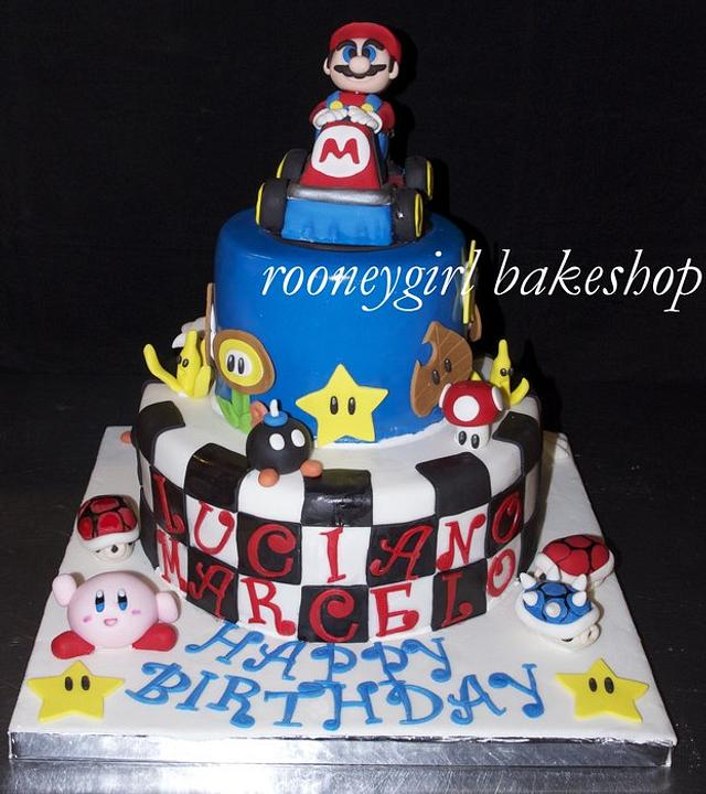 Outstanding Super Mario Kart Birthday Cake By Rooneygirl Bakeshop Cakesdecor Personalised Birthday Cards Sponlily Jamesorg