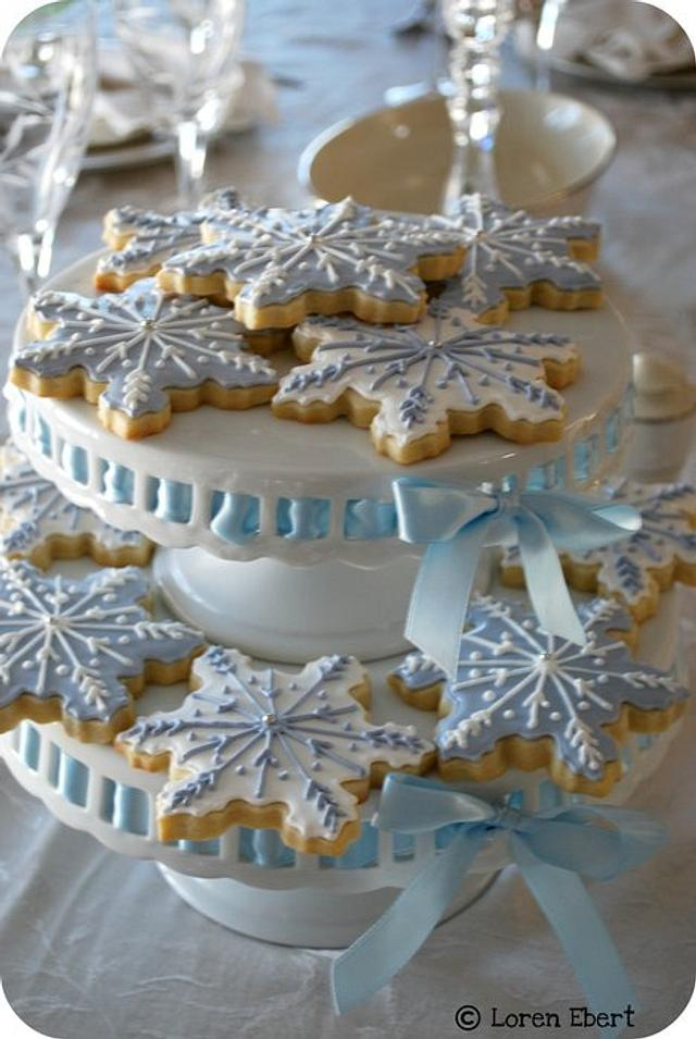 Snowflake Cookie Centerpiece!