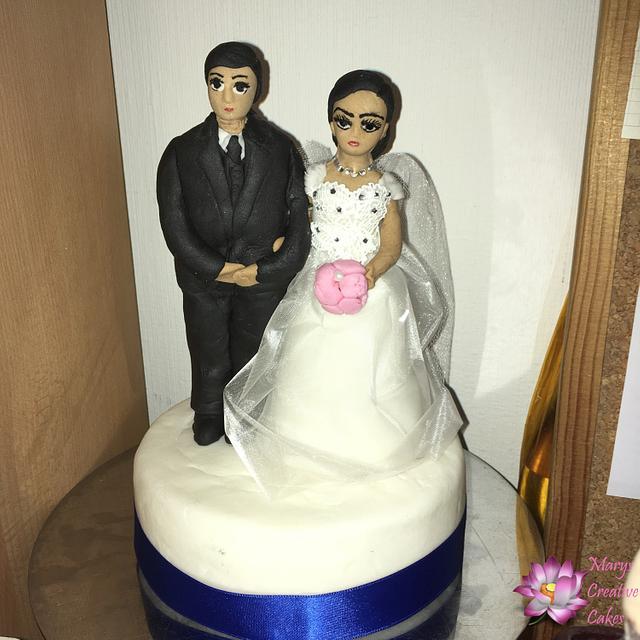 Asien Civil wedding Cake topper