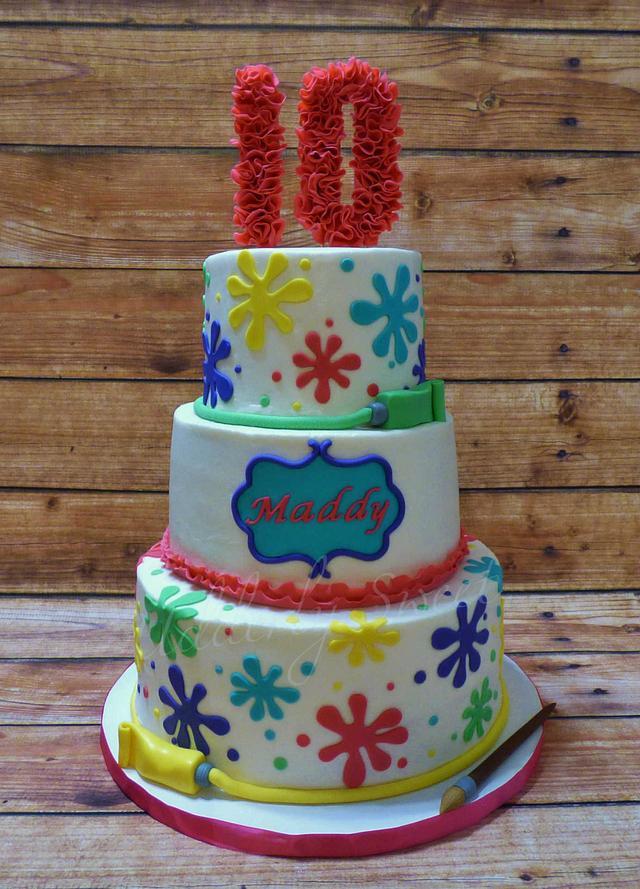 Paint Themed Birthday