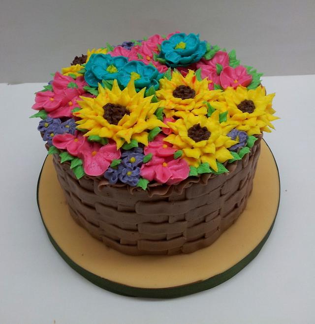 Buttercream Flower Basket