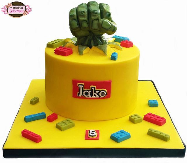 Lego Hulk Cake
