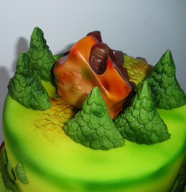 Forest house cake