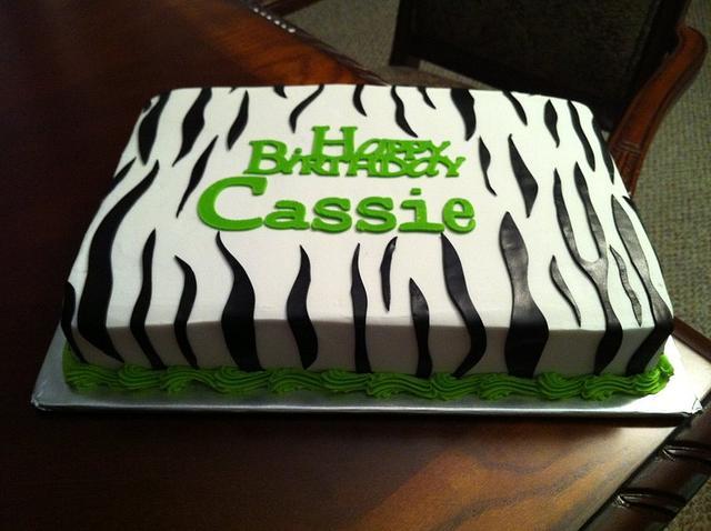 Zebra Striped Cake